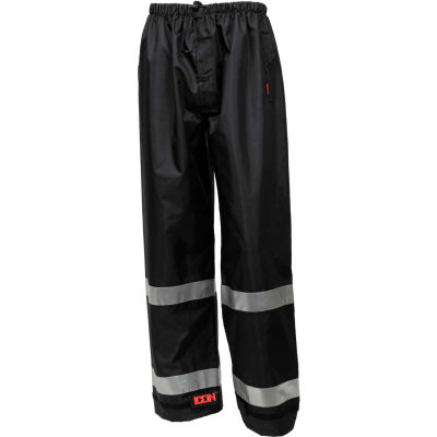 Tingley® Icon™ Waterproof Breathable Pants W/Silver Reflective Tape, Black, M