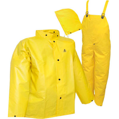 Tingley® S56307 DuraScrim™ 3 Pc Suit, Yellow, Detachable Hood, Small