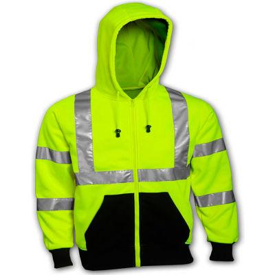 Tingley® S78122 Class 3 Hooded Sweatshirt, Fluorescent Lime, 5XL