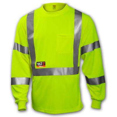 Tingley® Class 3 FR Long Sleeve T?Shirt, Fluorescent Yellow/Green, L