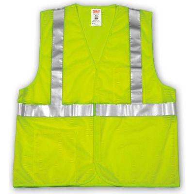 Tingley® V70622 Job Sight™ Class 2 Vest, Fluorescent Lime, Polyester Mesh, L/XL