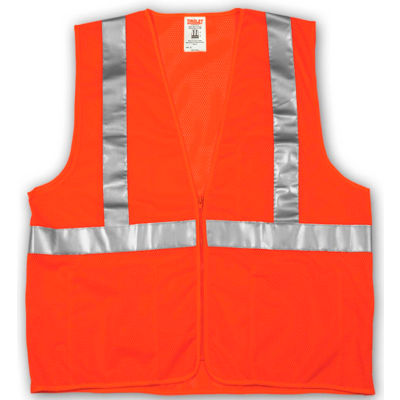 Tingley® V70639 Job Sight™ Class 2 Vest, Fluorescent Orange, Polyester Mesh, 4XL/5XL