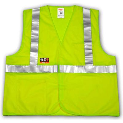 Tingley® V81622 Job Sight FR™ Class 2 Safety Vest, Fluorescent Lime, S/M