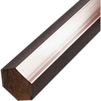 AIN Plastics Extruded Nylon 6/6 Plastic Hex Rod Stock, 5/8 in. Dia. x 96 in. L, Natural