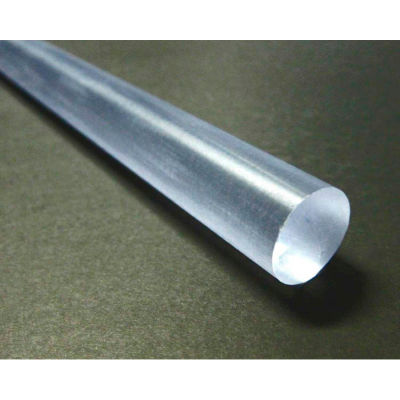 "AIN Plastics Polycarbonate Rod Stock 1"" Dia 96"" L, Natural"
