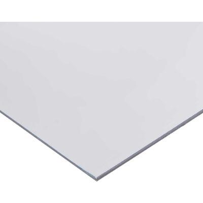 AIN Plastics PVC Plastic Sheet Stock, 48 in. L x 24 in. W x 1/4 in. Thick, Clear
