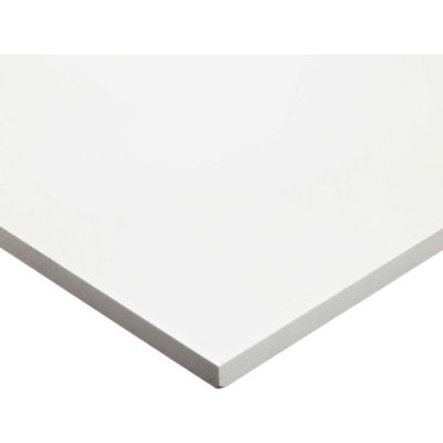 "AIN Plastics 507848-2424116W PVC Plastic Sheet Stock, White, 24"" L x 24"" W x 1/16"" Thick"