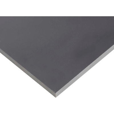 AIN Plastics PVC II Plastic Sheet Stock, 48 in. L x 12 in. W x 1/8 in. Thick, Grey