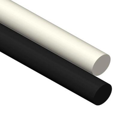 AIN Plastics UHMW Plastic Rod Stock, 7/8 in. Dia. x 12 in. L, Natural