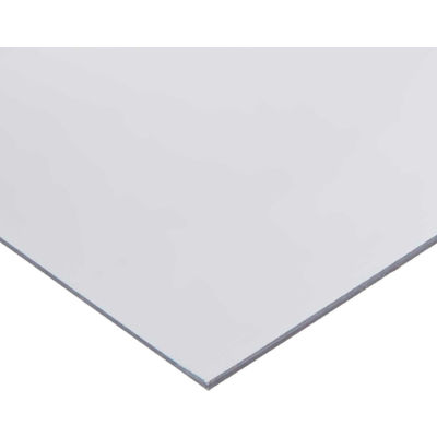 AIN Plastics PVC Plastic Sheet Stock, 24 in. L x 12 in. W x 1/2 in. Thick, Clear