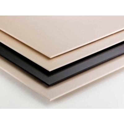 AIN Plastics UHMW Plastic Sheet Stock, 12 in. L x 12 in. W x 1-14 in. Thick, Black