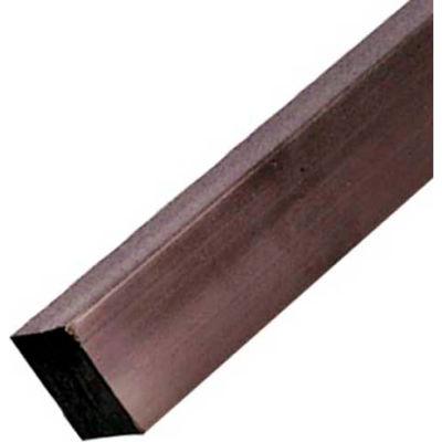 AIN Plastics Extruded Nylon 6/6 Plastic Square Rod Stock, 7/16 in. Dia. x 96 in. L, Natural