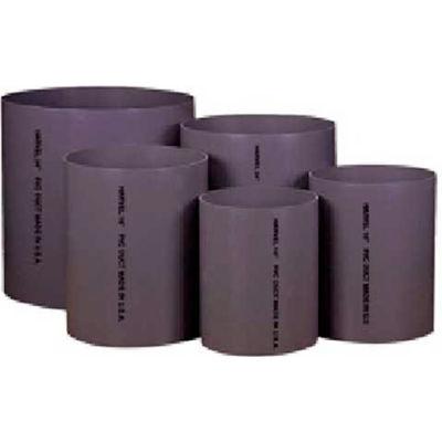AIN Plastics PVC Plastic Duct Stock, 12 in. Dia. x 120 in. L, Grey