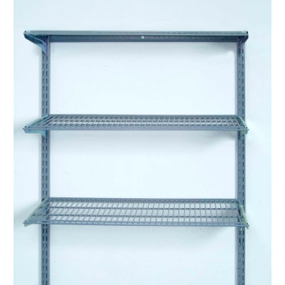 "Storability® 1795 Wall Mount Wire Shelving Unit (Level) 33""W x 31-1/2""H"
