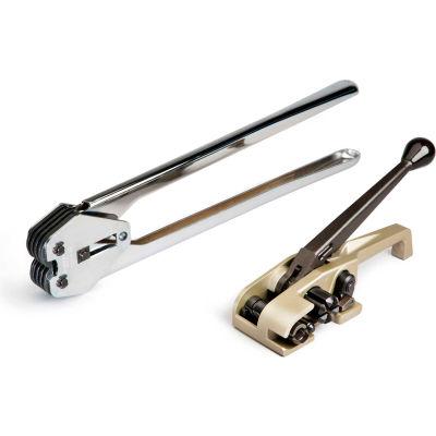 "Teknika Tool Set for PET/Plastic Strapping for 5/8"" Strap, MUL-320 Tensioner & MUL-330 Sealer"