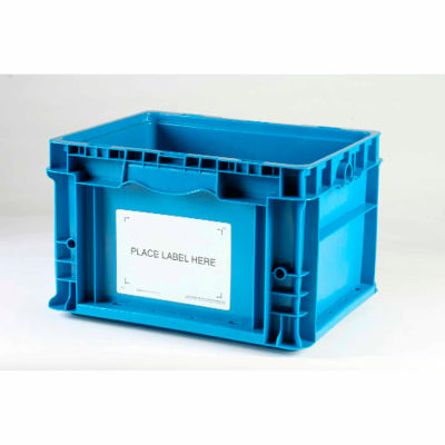 """Kennedy Group All Purpose Container Placard Label Holder ASTP5 with """"Place Label Here"""" 6"""" x 8"""" White - Pkg Qty 100"""