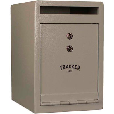 "Tracker Safe Front Drop Slot Depository Safe - DS120810-K - Dual Key Lock - 8""W x 10""D x 12""H  Cream"