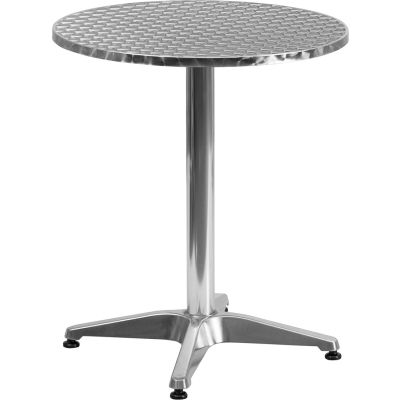 Flash Furniture 23-1/2'' Round Aluminum Indoor-Outdoor Table with Base