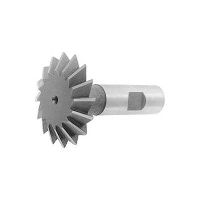 """60 ° HSS Import Double Angle Shank Cutter, 1-1/2"""" DIA x 1/2"""" Cutter Width x 3-3/8"""" OAL"""