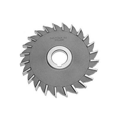 "HSS Import Plain Teeth Side Millng Cutter, 3-1/2"" DIA x 1/2"" Face x 1-1/4"" Hole"