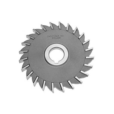 "HSS Import Plain Teeth Side Milling Cutter, 4"" DIA x 3/4"" Face x 1-1/4"" Hole"