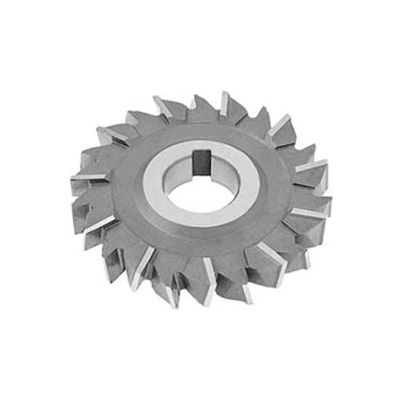 "HSS Import Staggered Tooth Side Milling Cutter, 5"" DIA x 1/2"" Face x 1"" Hole x 22 Teeth"
