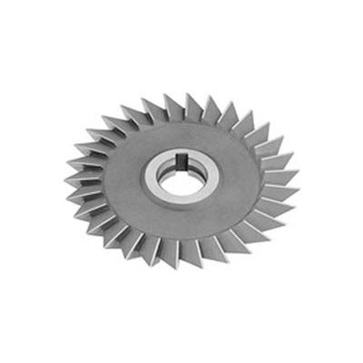 """60 ° HSS Import Single Angle Right Hand Cutter, 4"""" DIA x 1/2"""" Face x 1"""" Hole"""