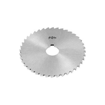 "HSS Import Plain Slitting Saw, 5"" DIA x 1/8"" Face x 1"" Hole"