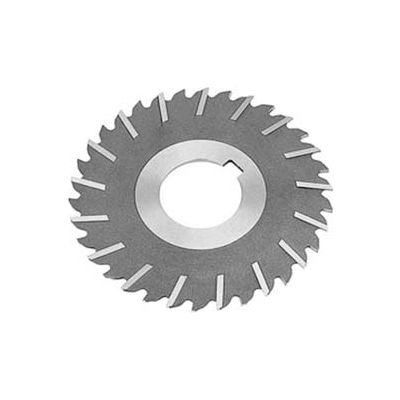 "HSS Import Metal Slitting Saw Staggered, Side Chip Clear, 4"" DIA x 1/8"" Face x 1-1/4"" Hole"