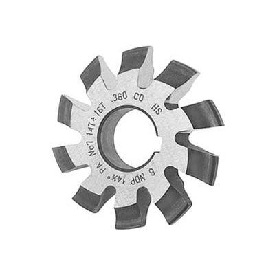 HSS Import Involute Gear Cutters, 14.5 ° Pressure Angle, DP 16-7/8 #6