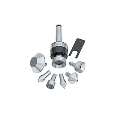 Bison-Live Center with Interchangeable Inserts, Set with MT3 Shank