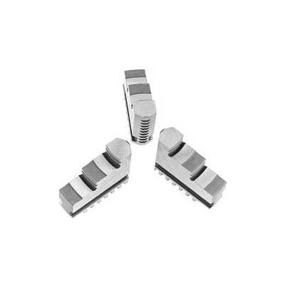 "Bison Hard Solid ID Jaws for 5"" 3-Jaw Scroll Chuck, 3 Piece Set"
