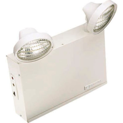 Emergi-Lite 12LSM36-210LG Large Steel Emergency Light - 12V, 36W, 2- 4W LED MR16 Lamp Heads