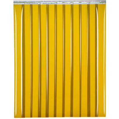 """Global Industrial™ Welding Strip Door - 10'W x 8'H - 8"""" Amber Tint PVC"""