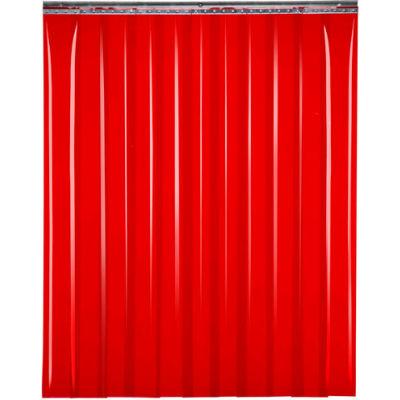 """Global Industrial™ Welding Strip Door - 10'W x 6'H - 8"""" Red Tint PVC"""