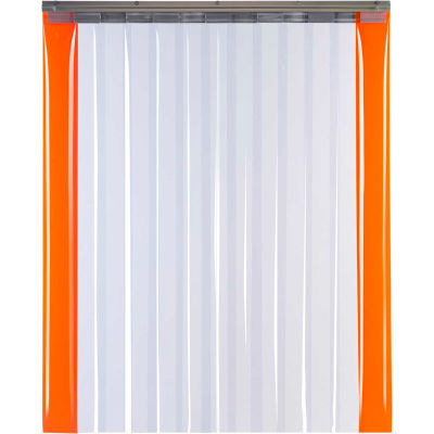 "TMI Armor-Bond Premium Strip Door SD10-12A-8X8-SL - 8'W x 8'H - 12"" Smooth Clear PVC"