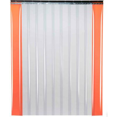 "TMI Low Temperature Strip Door SD11-8-4X7 - 4'W x 7'H - 8"" Smooth Clear PVC"