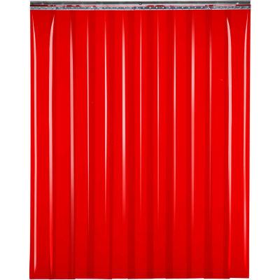 "TMI Welding Strip Door SD60-8-10X8 - 10'W x 8'H - 8"" Red Tint PVC"