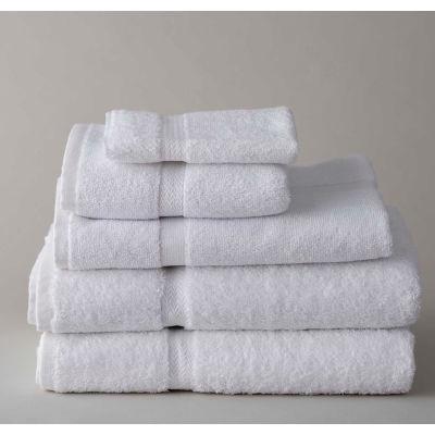 "Thomaston Mills Royal Suite Dobby Bath Towel - 54""L x 27""W - White - 12 Pack - Pkg Qty 3"