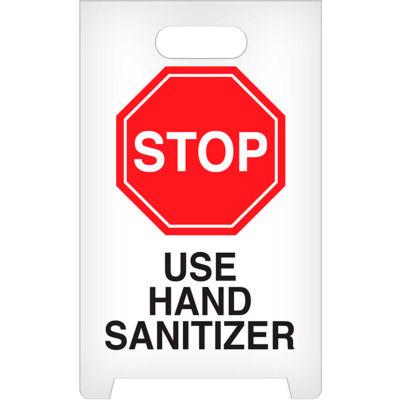 STOP Use Hand Sanitizer A-Frame Floor Sign