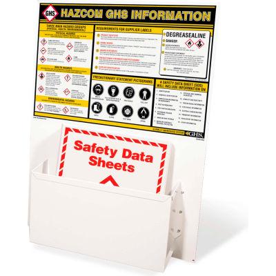 """INCOM® GHS1002 GHS Information Station, w/ 1 Binder, 18"""" x 24"""""""