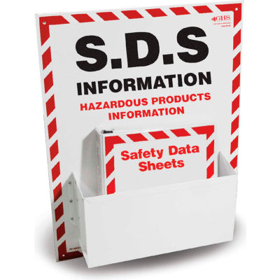 """INCOM® GHS1012 Single SDS Station, w/ 1 Binder, 18"""" x 24"""""""