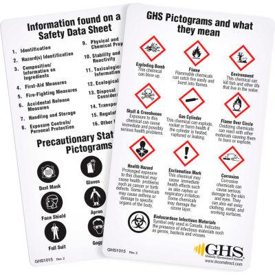 INCOM® GHS1015 GHS Wallet Reference Cards, 50/Pack