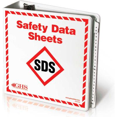 """INCOM® GHS1049 SDS Binder, 3"""" Rings D-Slant with A-Z dividers"""