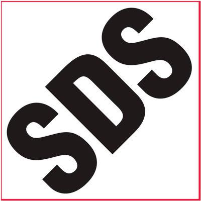 "INCOM® GHS1301 SDS Awareness Vinyl Decal, 4"" x 4"", 10/Pack"
