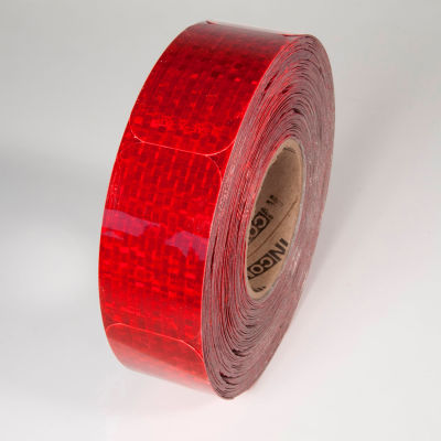 """Reflective Marking Tape, Red, 2""""W x 3-1/2""""W, 50/Roll, RR250RD"""
