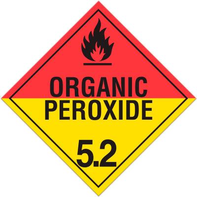 INCOM® TA521PS Class 5.2 Organic Peroxides Adhesive Vinyl Placard - 100/Pkg