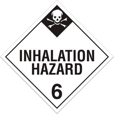 INCOM® TA620SS Class 6.2 Inhalation Hazard Rigid Plastic Placard - 100/Pkg