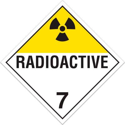 INCOM® TA700PS Class 7 Radioactive Adhesive Vinyl Placard - 100/Pkg