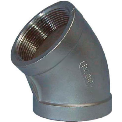 """Trenton Pipe Ss304-61003 3/8"""" Class 150, 45 Degree Elbow, Stainless Steel 304 - Pkg Qty 25"""